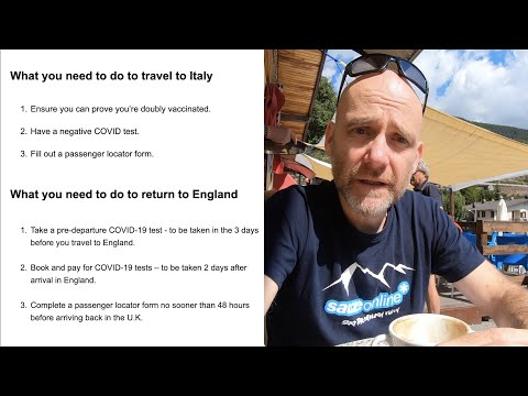 Travel update for Italy