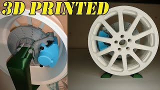 3D Printed Wheel With Brake System - 3d Printing Timelapse
