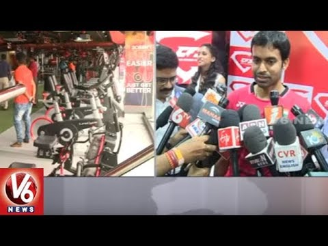 Badminton Coach Gopichand Launch Core Fitness Station | Hyderabad | V6 News