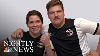 Sibling Olympians Matt And Becca Hamilton Compete In Curling   NBC Nightly News