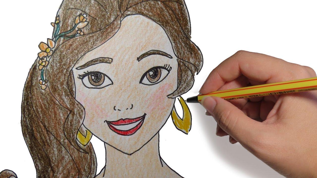 Como Dibujar A Elena De Avalor Paso A Paso Dibujos A
