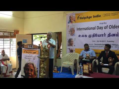 Advocate Mr. Arunachalam spoken at on the Observance of International Day of Older Persons,