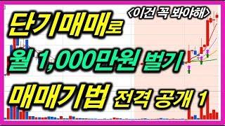 [주식]단기매매로 월 1000만원 벌기 매매기법 #3/24 18:20 돌파 후 눌림목 매수 기법 기초편1 주식강의