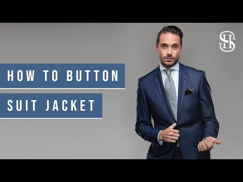 How To Button A Suit Jacket Properly | Two-Button, Double-Breasted, Three-Roll-Two