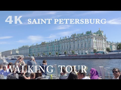 Walking and boat trips in Saint Petersburg in 4K ~ Прогулки по Петербургу