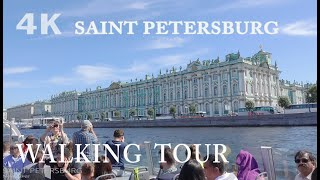 Saint Petersburg ~ Walking Tour ~ Part 1 ~ Russia 4K