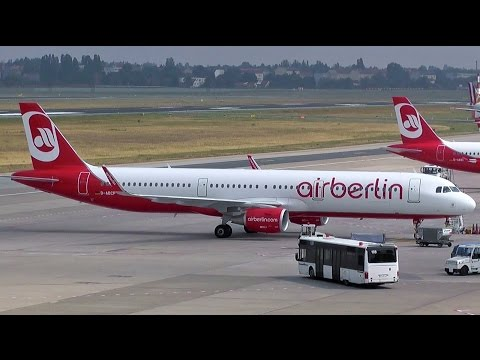 TXLspotting onboard Air Berlin Airbus A321-211 D-ABCP AB7743 arrival at Berlin Tegel airport