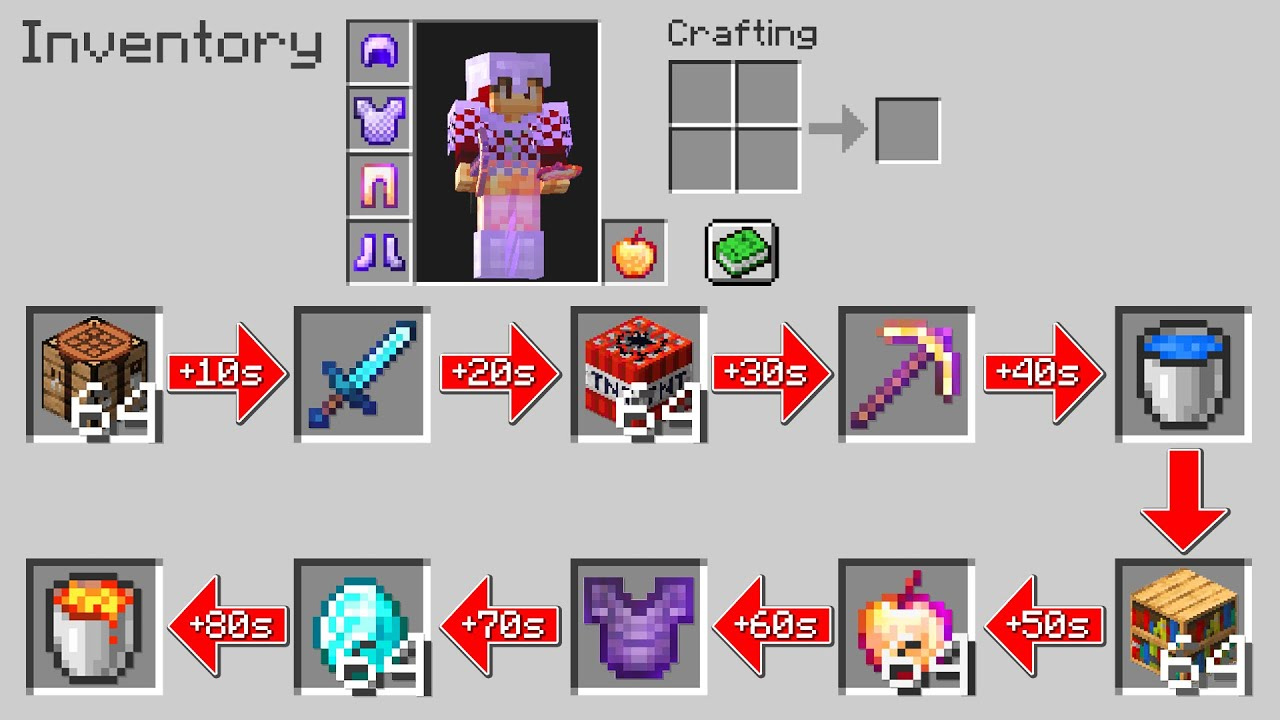 """Minecraft UHC but the inventory is """"Random"""".."""