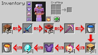 "Minecraft UHC but the inventory is ""Random"".."