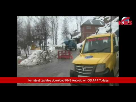 Snowfall led to closure of Srinagar-Jammu highway
