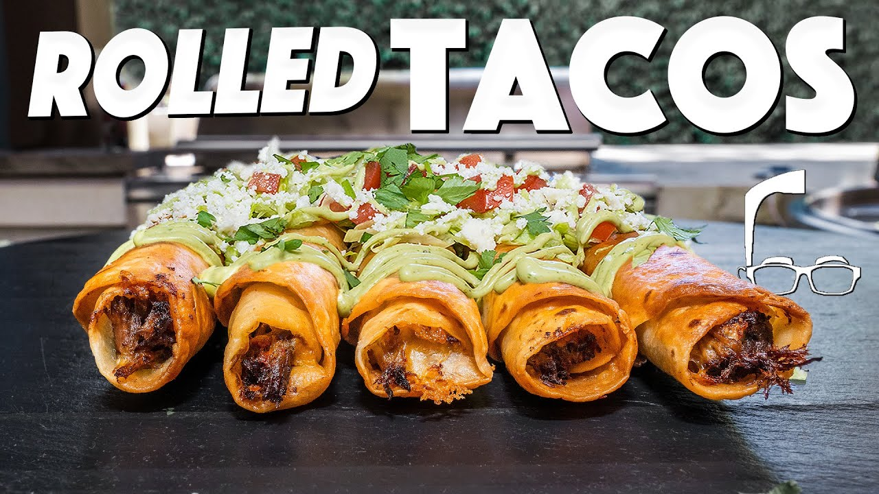CHEESY JUICY BEEFY ROLLED TACOS AT HOME...WOW! | SAM THE COOKING GUY
