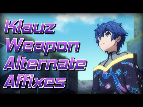 PSO2 Global - Klauz Weapon Alternate Augments (Non Guardian Soul Setups)