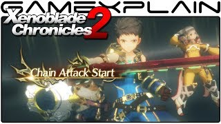 Xenoblade Chronicles 2 - Fighting the Nomad Rhinon & Cunning Saggie Gameplay (Direct Feed)