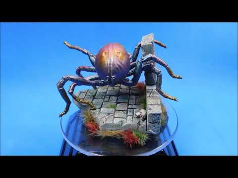 Spider Serum and Chameleon Paints tutorial painting a Great Spider - Shelob