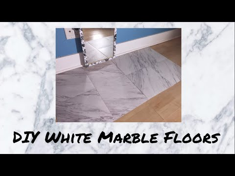 DIY Cheap Marble Floors Apartment Friendly - Kennedi Paige Makeup!
