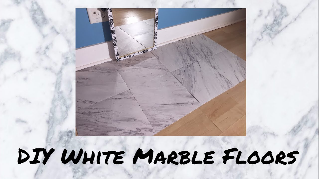 Diy Cheap Marble Floors Apartment Friendly Kennedi Paige Makeup