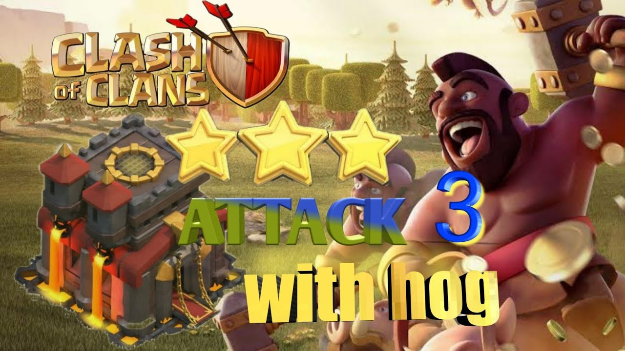 CLASH OF CLANS HOG ATTACK NO3 - YouTube
