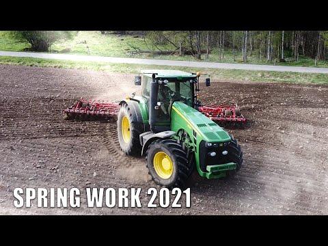 BIG FARMING IN SMÅLAND   Johndeere, Kverneland, Väderstad   Sweden!