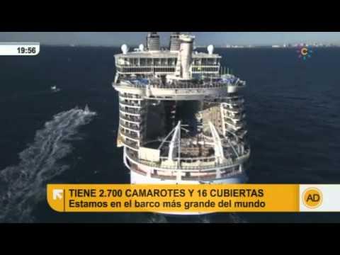 En directo desde el crucero m s grande del mundo youtube for El mundo del mueble sillones