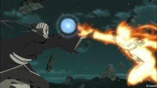 Naruto Rasengan Breaks Obito Mask [Kakashi Guy Naruto Vs Obito]