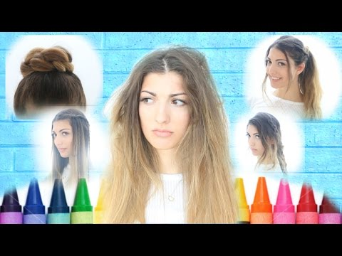 Quick Unique Back To School Hairstyles Youtube