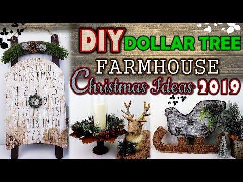 DOLLAR TREE DIY     FARMHOUSE CHRISTMAS DECOR IDEAS 2019   CHRISTMAS COUNTDOWN DIY