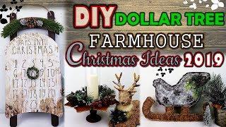 DOLLAR TREE DIY  |  FARMHOUSE CHRISTMAS DECOR IDEAS 2019 | CHRISTMAS COUNTDOWN DIY