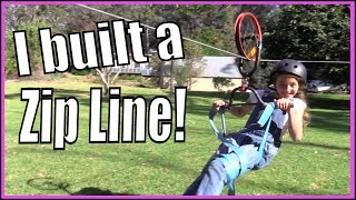 How to build a fun zipline in your backyard with Mikky the Inventor