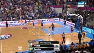 Basket Feminin  France vs Suède   Céline Dumerc show   2013/06/27