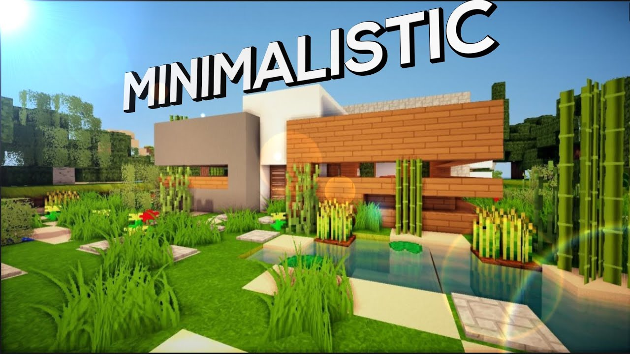 Minecraft PE Minimalistic Modern House DOWNLOAD - YouTube