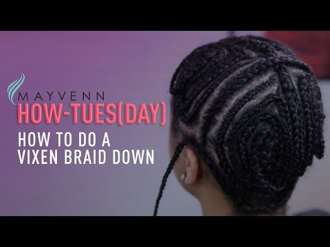 Easy Braid Pattern For A Vixen Sew-In - YouTube