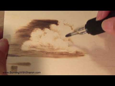 Pyrography How To Burn Clouds Youtube