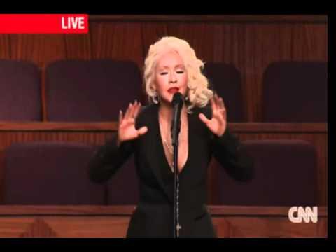 Christina Aguilera - At Last - Live @ Etta James Funeral [HQ]