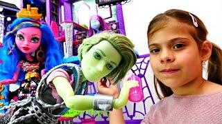 Видео для девочек - Новый ученик в школе Монстер Хай