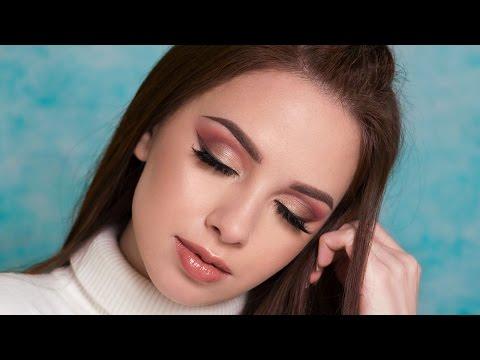 Warm Toned Smokey Eyes & Brown Eyeliner Makeup Tutorial