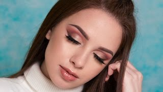 warm toned smokey eyes brown eyeliner makeup tutorial