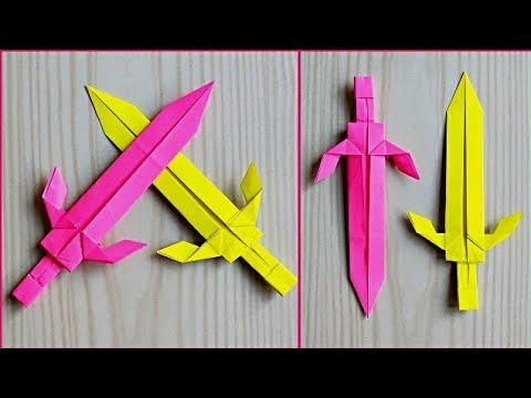 How to make sword with paper / Origami paper sword / Paper crafts ideas for kids