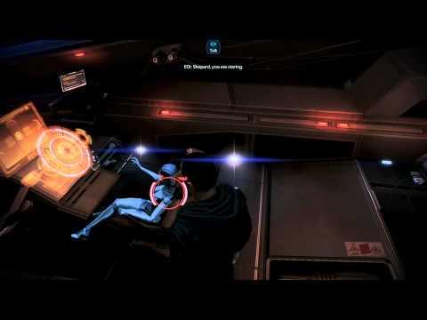 Mass Effect 3: Male Shepard staring at EDI