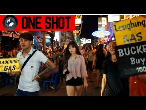 THE MOST FU*KED UP STREET IN BANGKOK IN ONE SHOT  (Khao San Road)