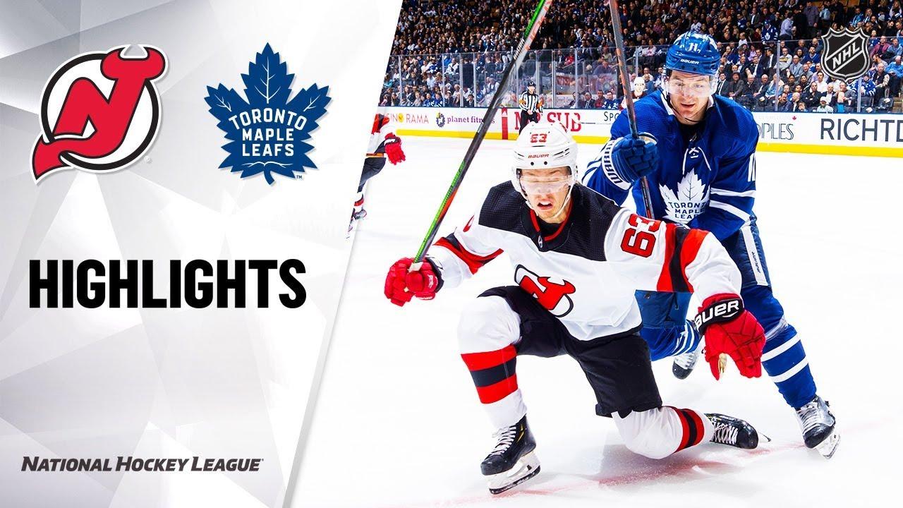 NHL Highlights | Devils @ Maple Leafs 1/14/20
