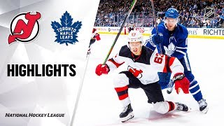 Nhl Highlights | Devils @ Maple Leafs 1/14/20