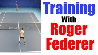 Training with Roger Federer #1