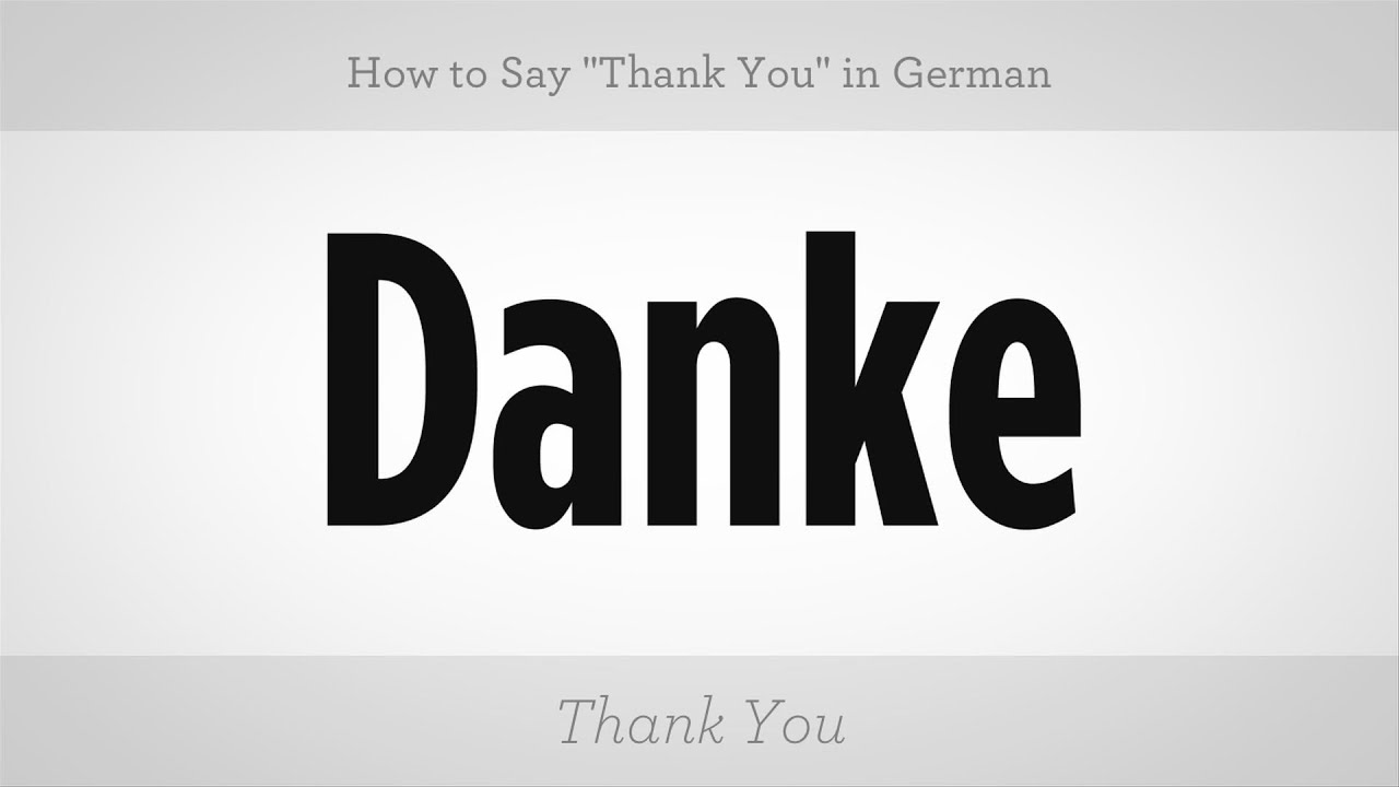 how to say thank you in german german lessons youtube