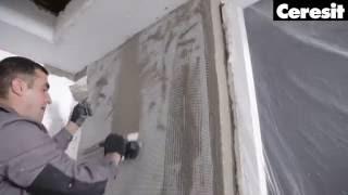 Застосування штукатурно-клейовий суміші, відео інструкція виконання робіт з Ceresit CT 85
