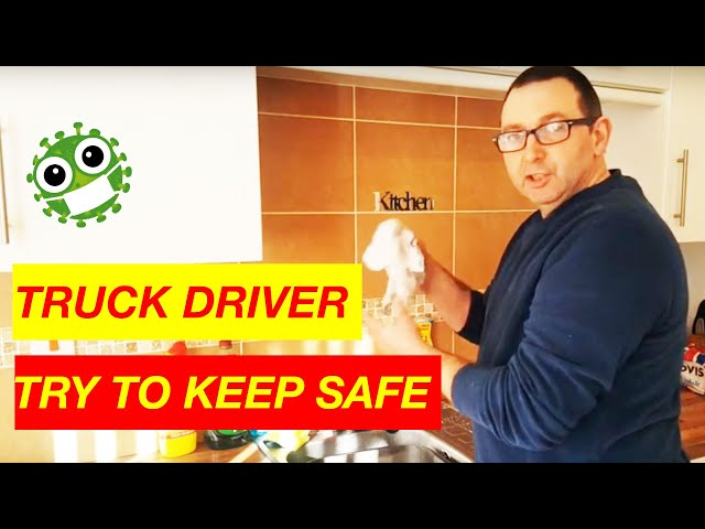 Truck Drivers Try to Keep Safe during Coronavirus British Trucking