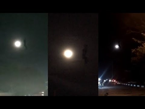 GIGANTIC strange object appears next to the moon in Aceh in Indonesia