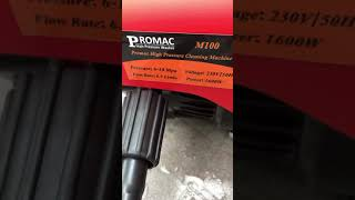 Máy rửa xe mini Promac M100 giá 1,500,000 Hotline 0907274444