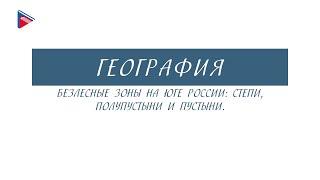8 класс - География - Безлесные зоны на юге России: степи, полупустыни и пустыни