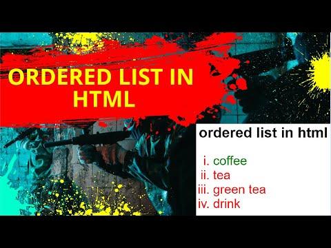 Web Designing & Development Tutorial 34: Ordered List  In Html