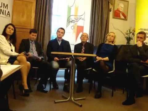 Political Meeting Irish Polish Society , Dublin, Sun. 18th May 2014.
